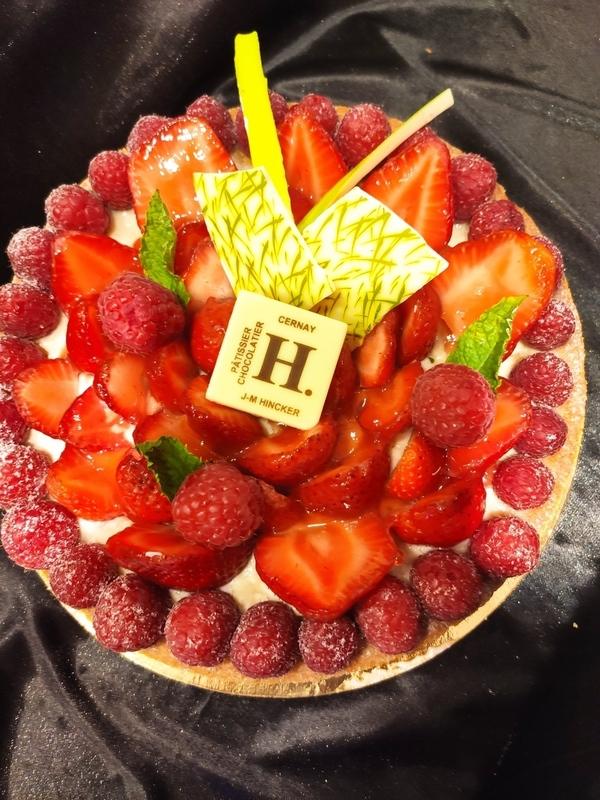 Tarte aux fraises frangipane